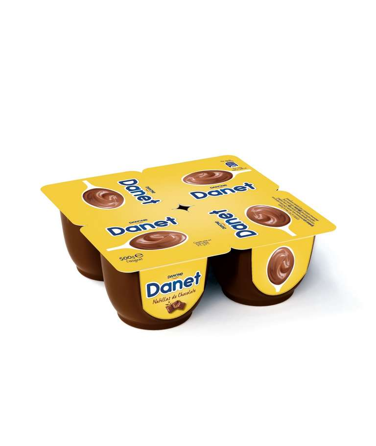 Natillas de Chocolate DANET de Danone pack 4 uds.
